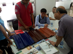 Selecting the roof tiles
