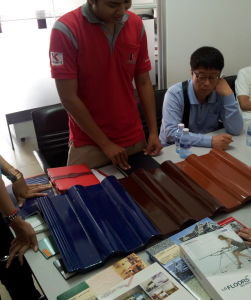 Selecting roof tiles