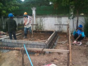 Preparing the ground slab