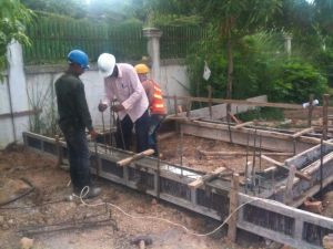 Preparing for the ground slab