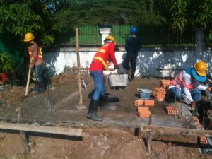 Preparing ground slab
