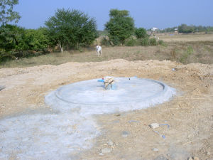 The first well on the land