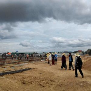 Missionary staff visit the construction site