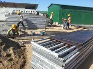 Preparing formwork for the ground beams